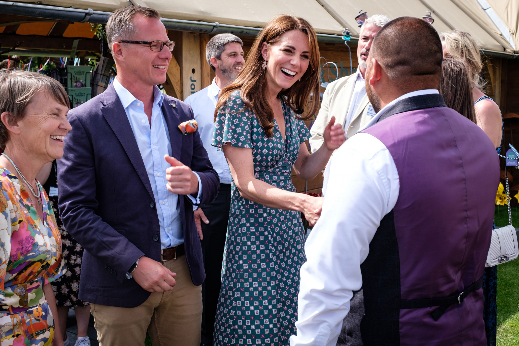 A photo of The Duchess of Cambridge and people