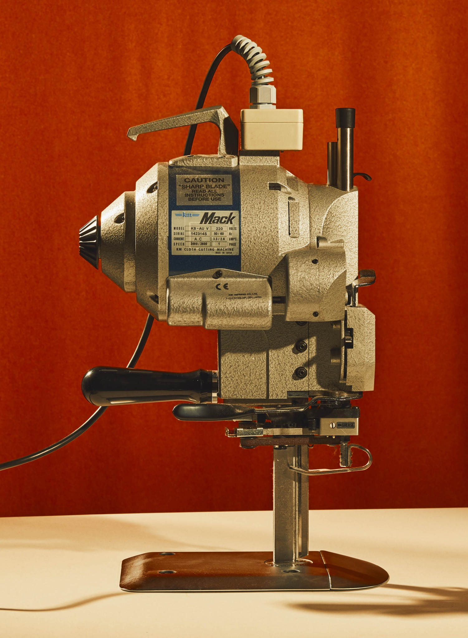 Image of a fabric cutting machine