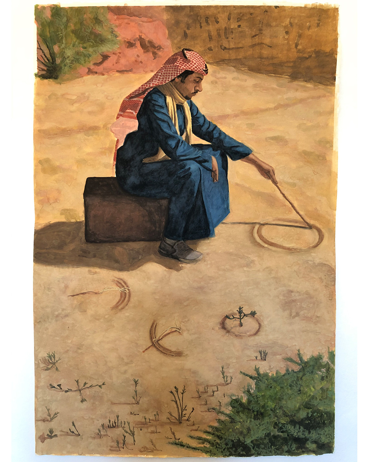 geometer, painting, will riding, john moores prize