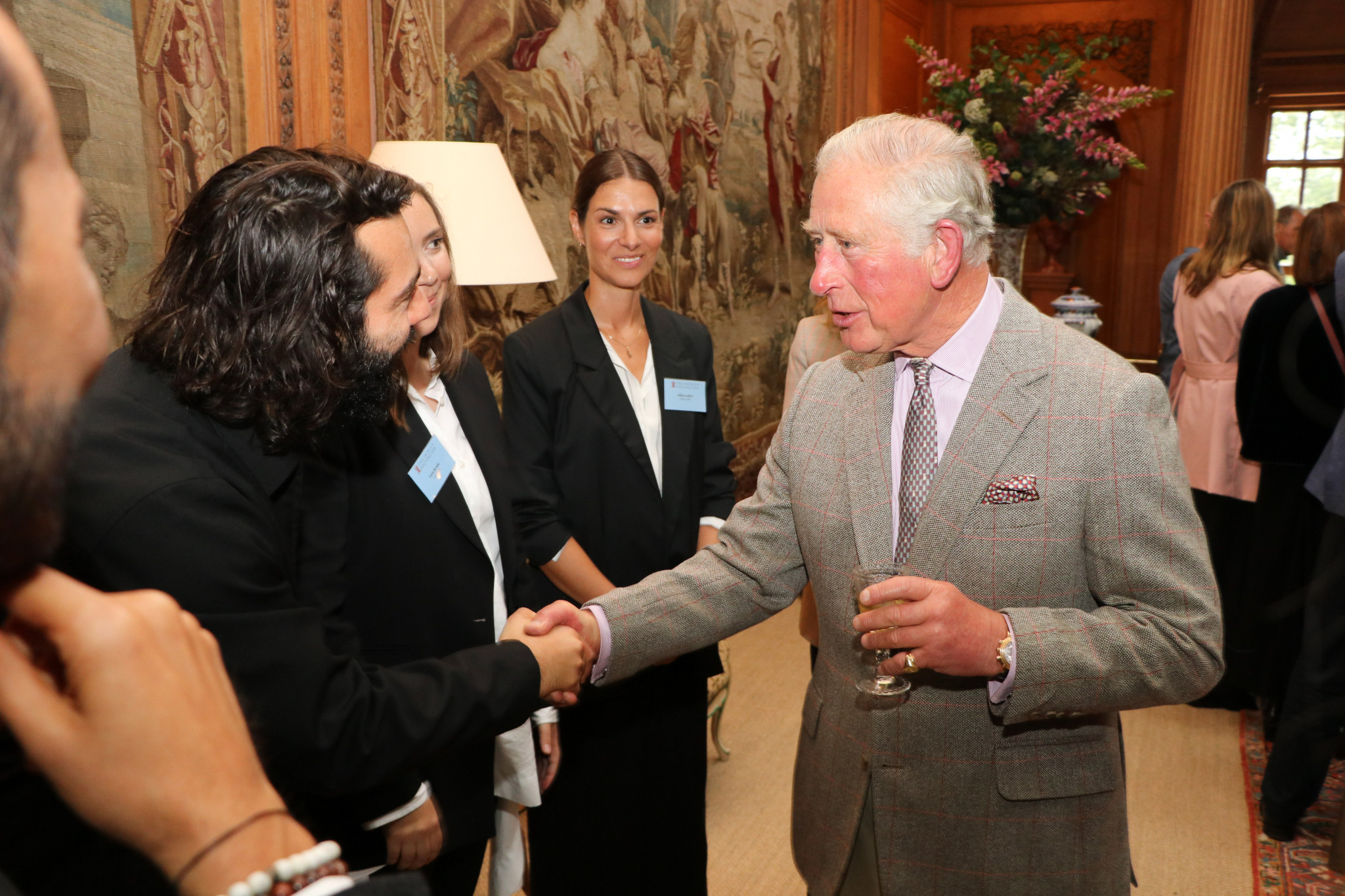 HRH The Prince of Wales meets Berlin-based designer Ashley Marc Hovellea