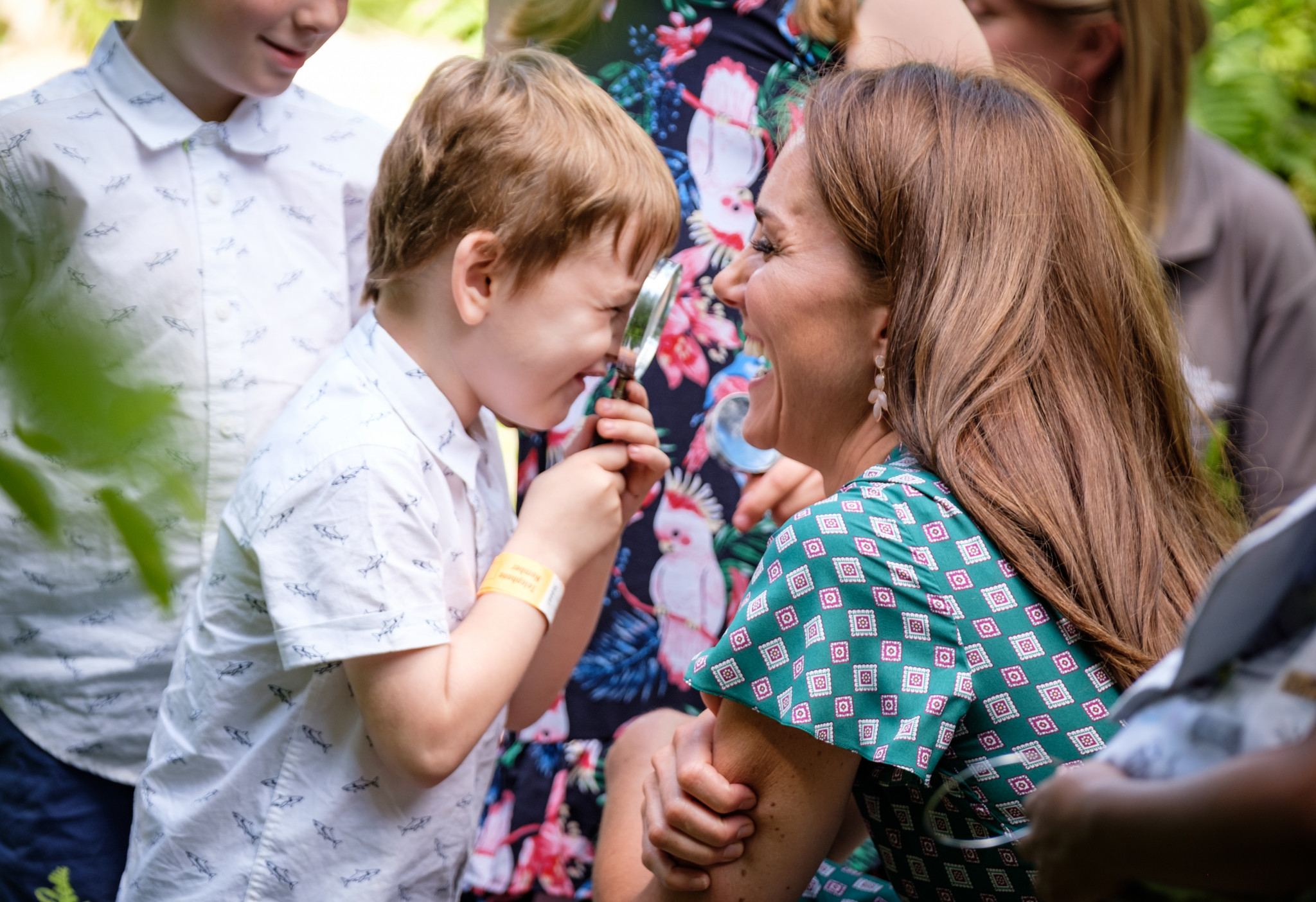 A photo of The Duchess of Cambridge and a little boy