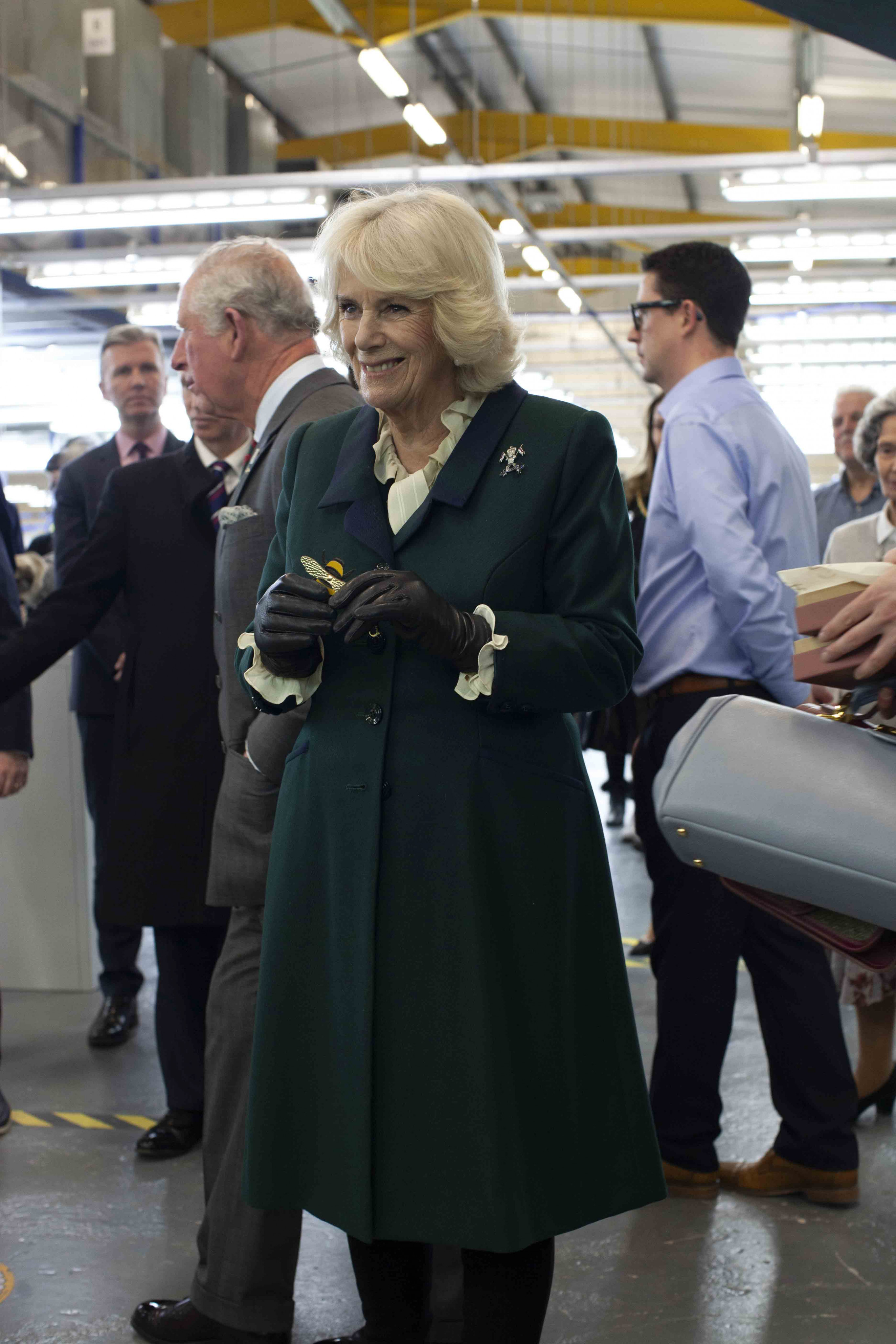 The Duchess of Cornwall at The Cambridge Satchel Company