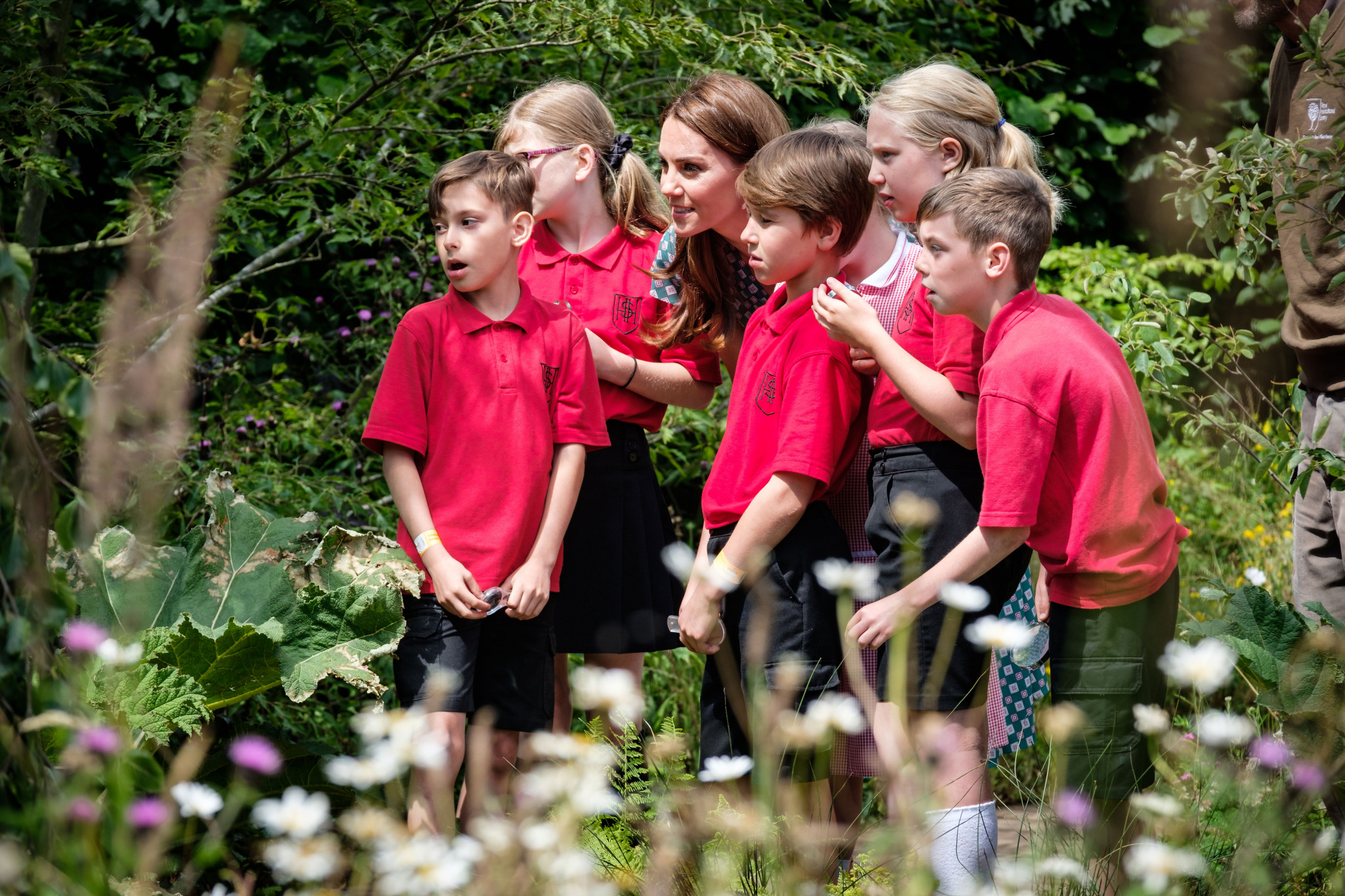 A photo of The Duchess of Cambridge and children