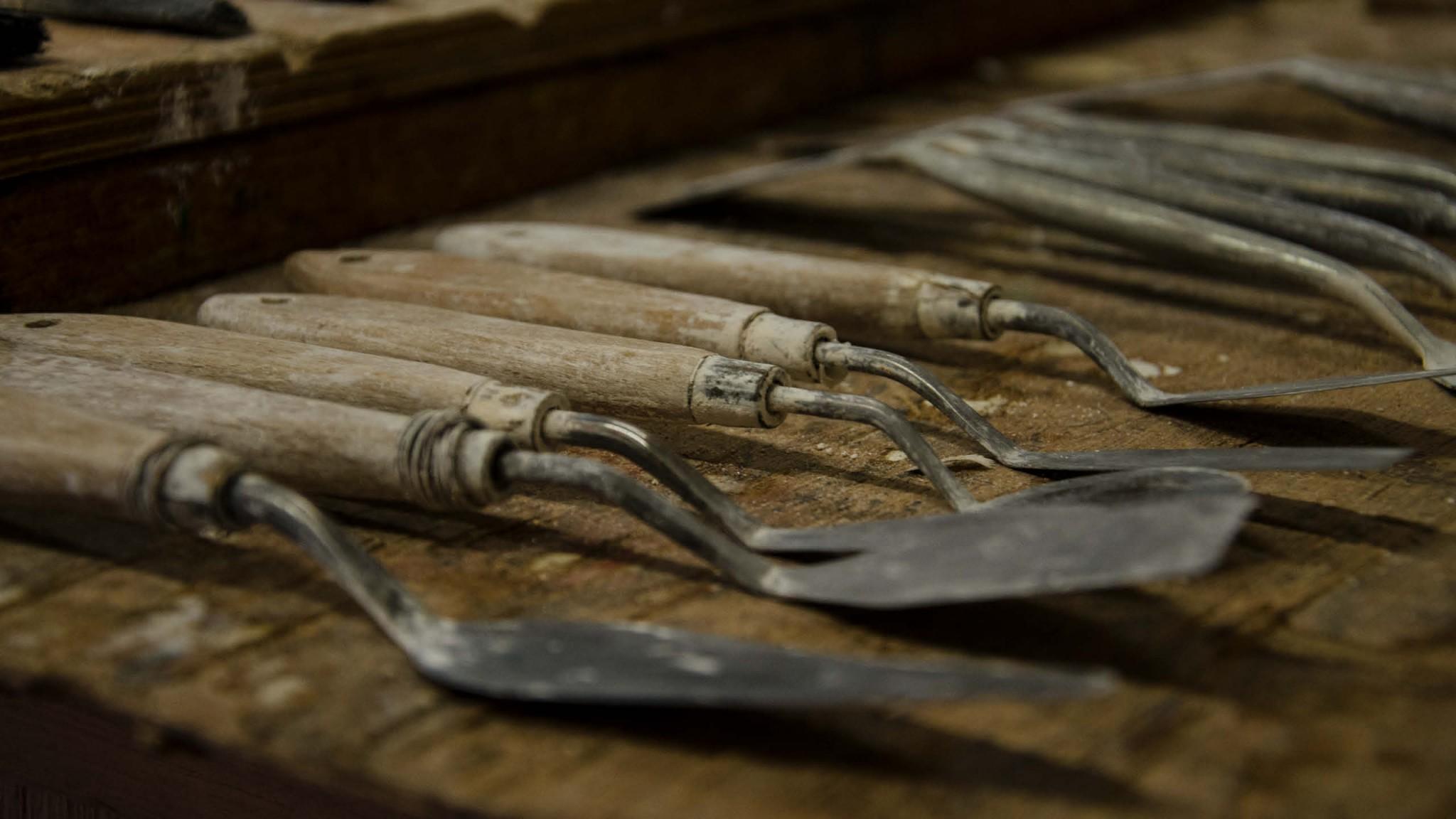 Closeup image of tools